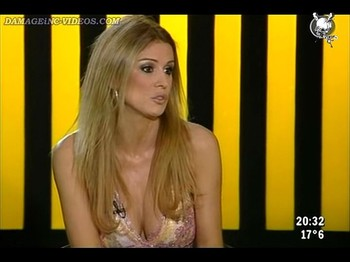 TV milf big breasts dress on tv