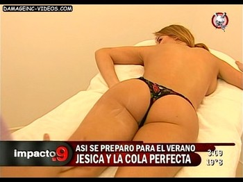 Jesica Cirio half naked massage